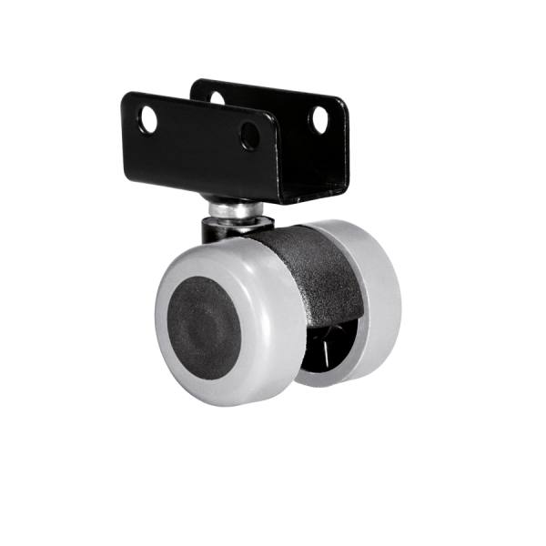 Doppelrollen Ø 35 mm - weiche Lauffläche | Doppelrolle Ø 035 mm mit weicher Lauffläche, Plattenschuh 16 mm