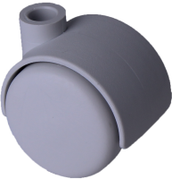 Doppelrolle Ø 040 mm mit harter Lauffläche, Bohrung 8mm, grau