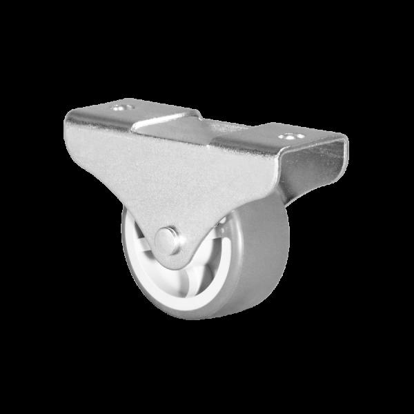 Kastenbockrollen | Ø 040 mm, Kastenbockrolle mit weicher Lauffläche