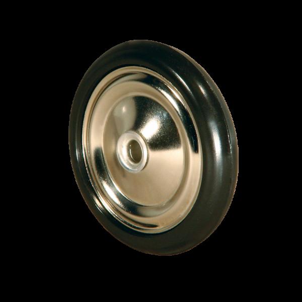 Diskusräder | Diskusrad Ø 060 mm vernickelt, Kunststoffring schwarz