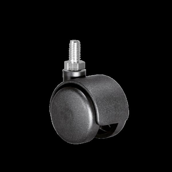 Doppelrollen Ø 40 mm - harte Lauffläche | Doppelrolle Ø 040 mm mit harter Lauffläche, Gewindestift M10x15 mm