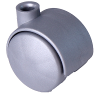 Doppelrolle Ø 040 mm mit harter Lauffläche, Bohrung 8mm, silber