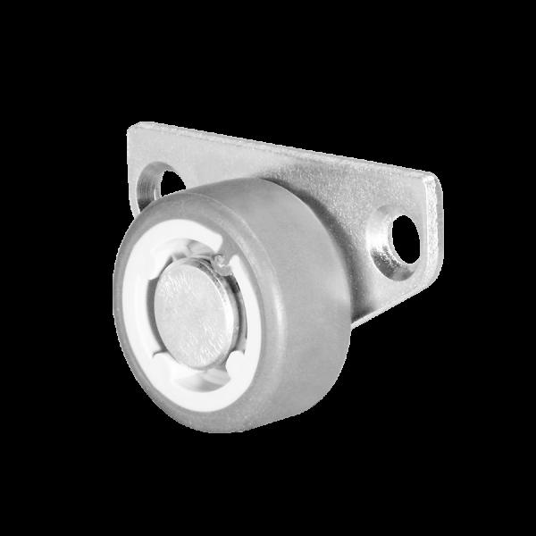 Kastenbockrollen | Ø 030 mm, Sonderkonstruktion Kastenbockrolle mit weicher Lauffläche