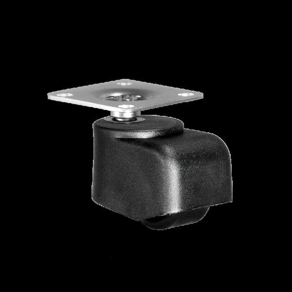 Walzenrolle Ø 025 mm mit harter Lauffläche, Anschraubplatte 40x40 mm