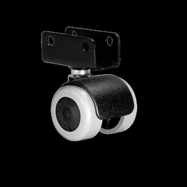 Doppelrollen Ø 35 mm - weiche Lauffläche | Doppelrolle Ø 035 mm mit weicher Lauffläche, Plattenschuh 22 mm
