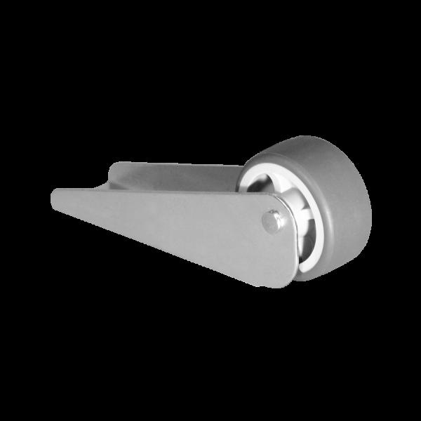 Bettkastenrolle 83x26 mm verzinkt mit Rolle Ø 025 mm, weiche Lauffläche