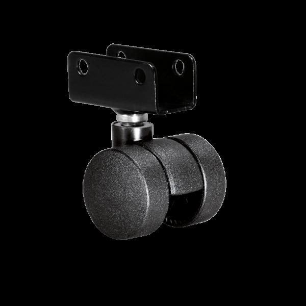 Doppelrollen Ø 35 mm - harte Lauffläche | Doppelrolle Ø 035 mm mit harter Lauffläche, Plattenschuh 16 mm