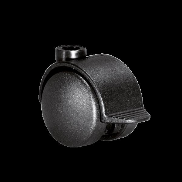 Doppelrollen Ø 40 mm - harte Lauffläche | Doppelrolle Ø 040 mm mit harter Lauffläche und Feststeller