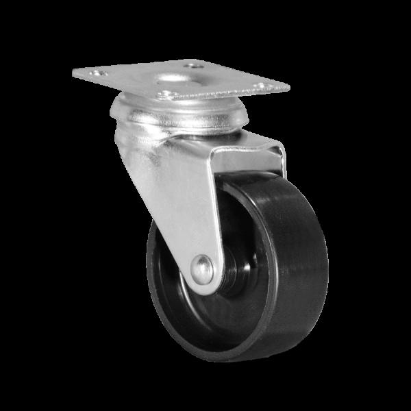 Apparaterollen / Geräterollen | Ø 050 mm Apparaterolle mit harter Lauffläche, Anschraubplatte 42x42 mm