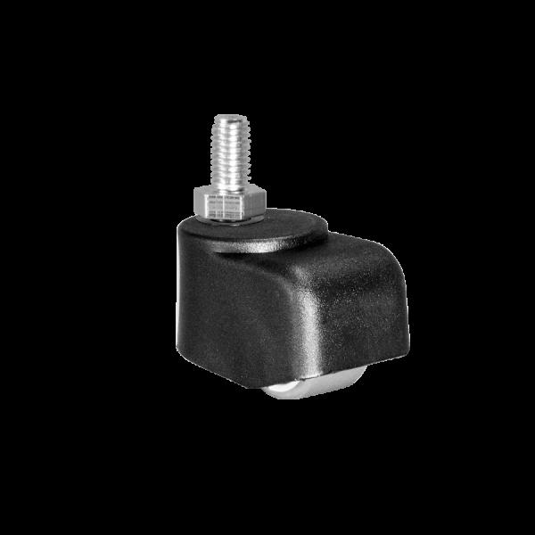 Walzenrollen | Walzenrolle Ø 025 mm mit weicher Lauffläche, Gewindestift M10x15 mm