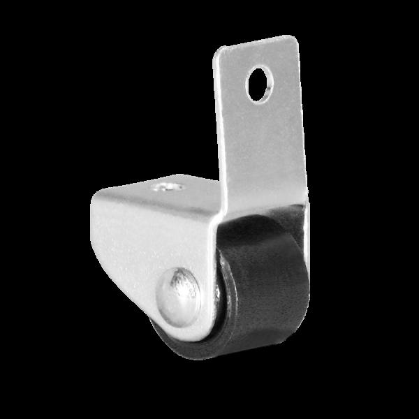 Kastenbockrollen | Ø 015 mm, Kastenbockrolle mit harter Lauffläche