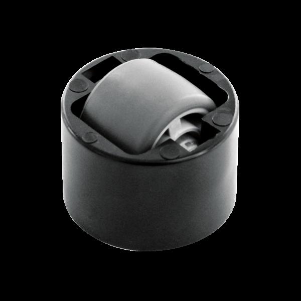Einbauprodukte | Stollenrolle mit weicher Lauffläche, Rad Ø 25 mm