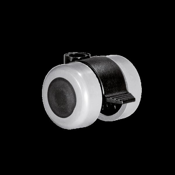 Doppelrollen Ø 35 mm - weiche Lauffläche | Doppelrolle Ø 035 mm mit weicher Lauffläche und Feststeller