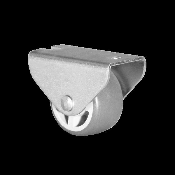 Kastenbockrollen | Ø 025 mm, Kastenbockrolle mit weicher Lauffläche