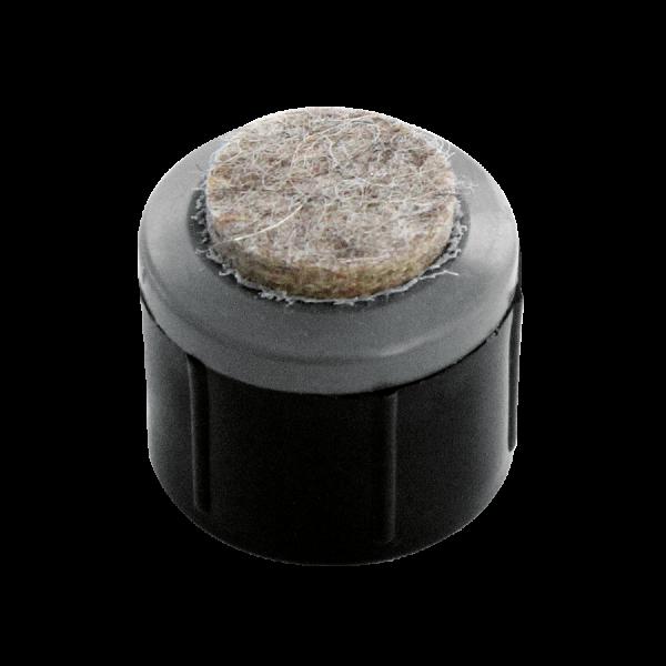 Einbauprodukte | Stollengleiter Ø 25 mm mit aufgeschweißter Filzauflage