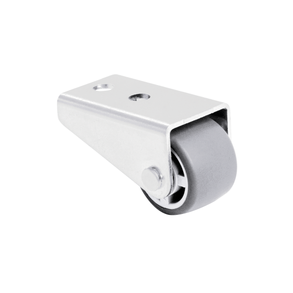 Kastenbockrollen | Ø 025 mm, Sonderkonstruktion Kastenbockrolle mit weicher Lauffläche, 1x Rad