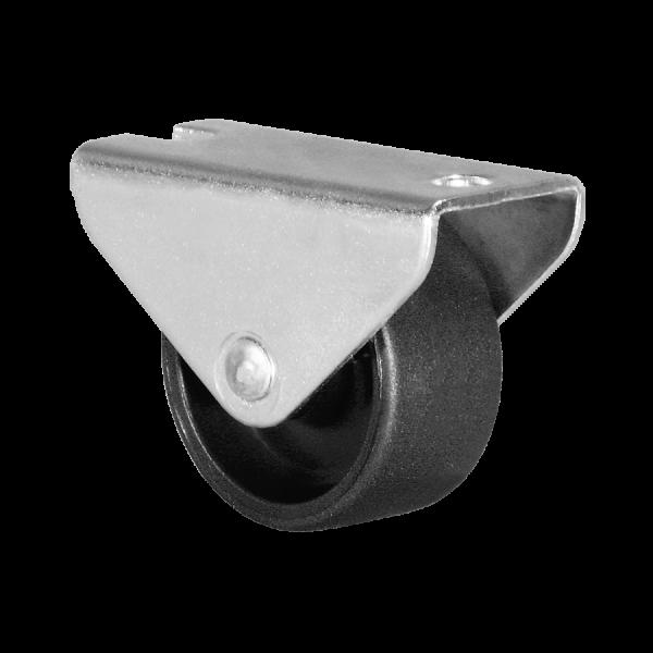 Kastenbockrollen | Ø 030 mm, Kastenbockrolle mit harter Lauffläche