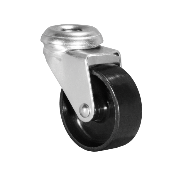 Ø 100 mm Apparaterolle mit harter Lauffläche, Rückenloch Ø 10,2 mm