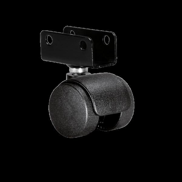Doppelrollen Ø 35 mm - harte Lauffläche | Doppelrolle Ø 035 mm mit harter Lauffläche, Plattenschuh 22 mm