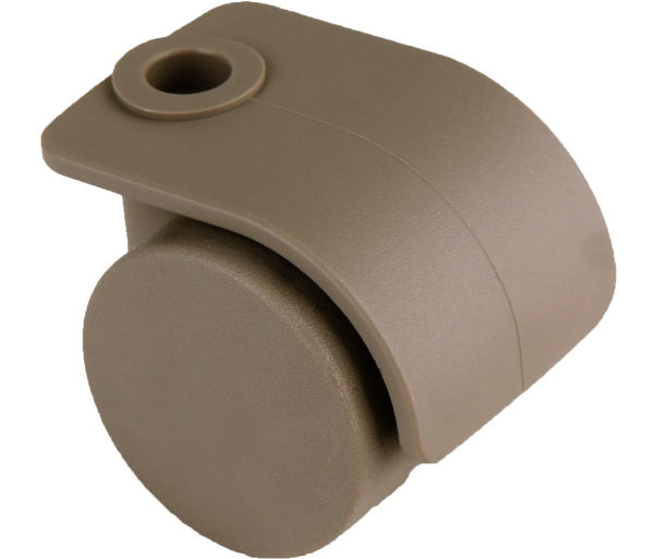 Möbelrollen in Farben | Doppelrolle Ø 035 mm mit harter Lauffläche, Bohrung Ø 8mm, dust