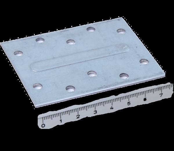 Stanzteile - Befestigungswinkel | Platte 76x60x2,0mm verzinkt