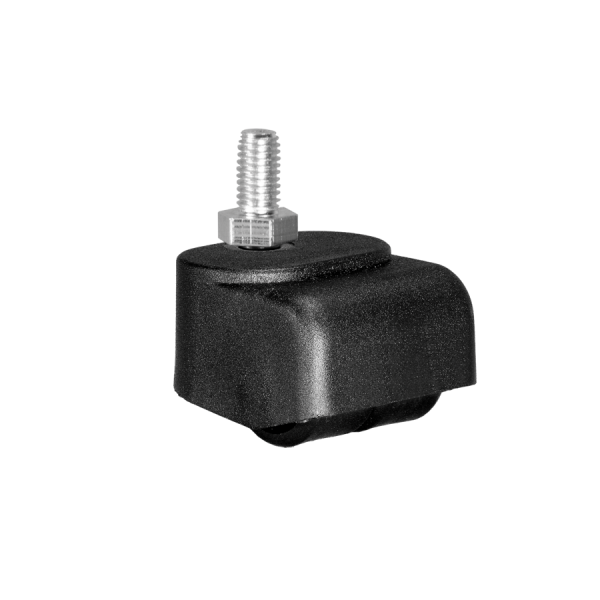 Walzenrollen | Walzenrolle Ø 025 mm mit harter Lauffläche, Doppelbereifung, Gewindestift M10x15 mm