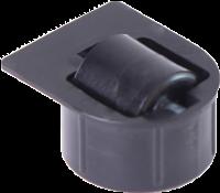 Stollenrolle mit Rad schwarz mit harter Lauffläche, Ø 16 mm, für Bohrung Ø 25 mm, Bauhöhe 4 mm, mit