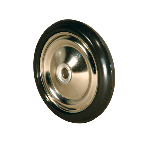 Diskusräder | Diskusrad Ø 050 mm vernickelt, Kunststoffring schwarz
