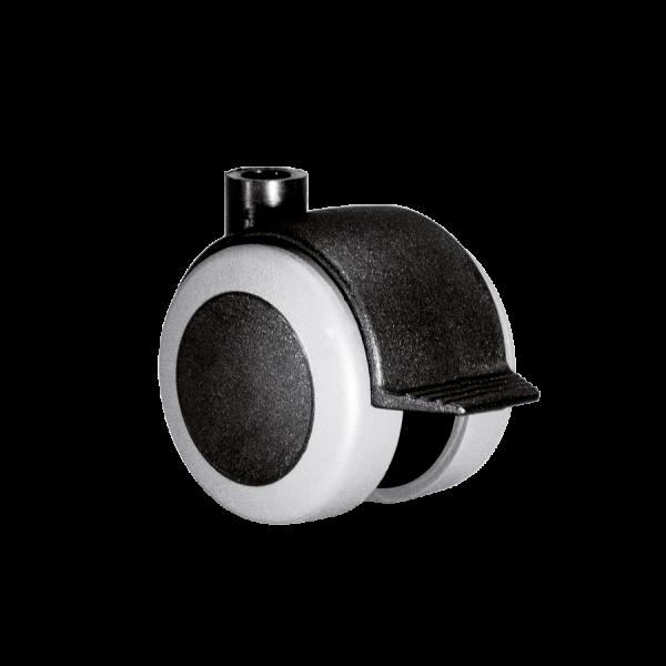 Doppelrollen Ø 50 mm - weiche Lauffläche | Doppelrolle Ø 050 mm mit weicher Lauffläche und Feststeller