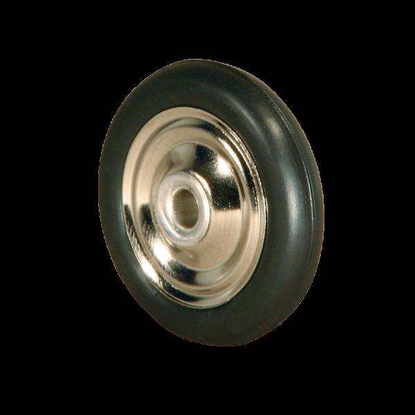 Diskusräder | Diskusrad Ø 038 mm vernickelt, Kunststoffring schwarz