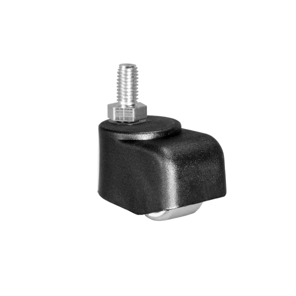 Walzenrollen | Walzenrolle Ø 025 mm mit weicher Lauffläche, Gewindestift M8x15 mm