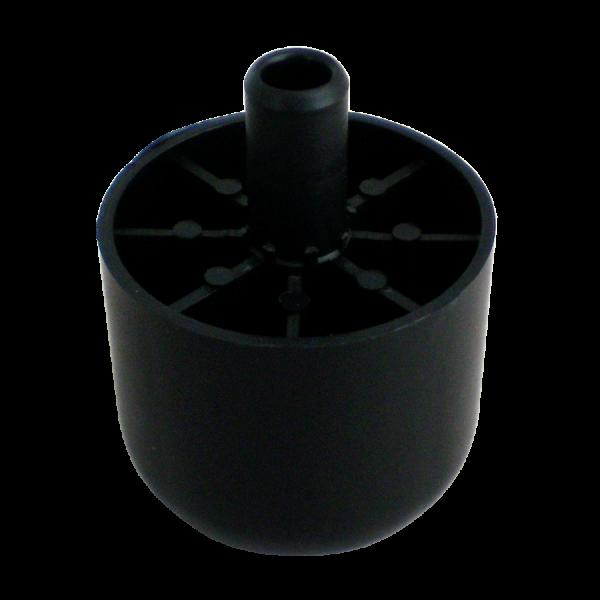 Möbelgleiter schwarz aus Kunststoff Ø 55 x 48 mm