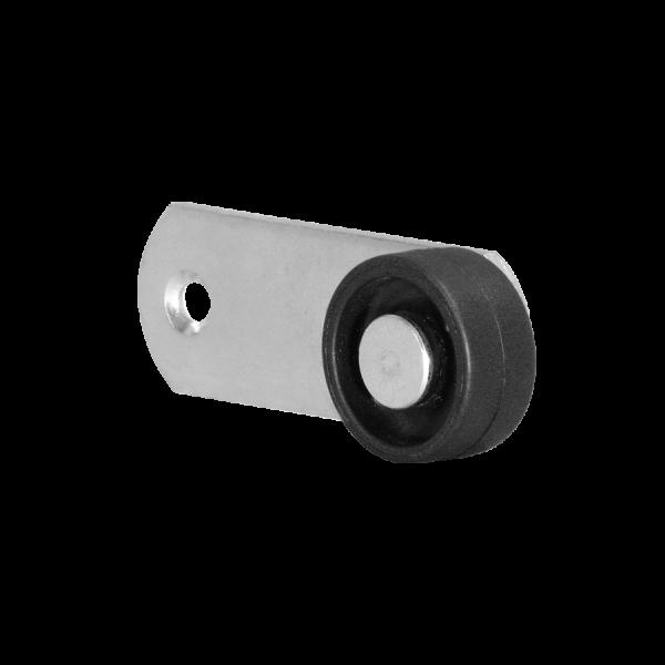 Sonderkonstruktionen mit Rolle | Hebel 78x28 mm verzinkt mit Rolle Ø 030 mm, harte Lauffläche