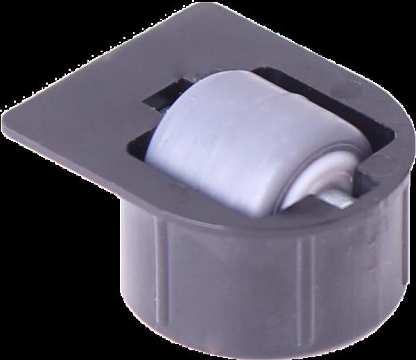 Einbauprodukte | Stollenrolle mit Rad mit weicher Lauffläche grau, Ø 16 mm, für Bohrung Ø 25 mm, Bauhöhe 4 mm, mit Fa