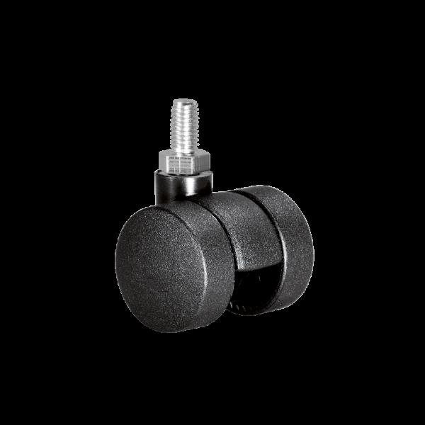 Doppelrollen Ø 35 mm - harte Lauffläche | Doppelrolle Ø 035 mm mit harter Lauffläche, Gewindestift M10x15 mm