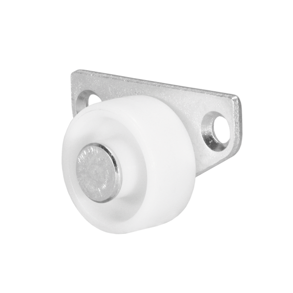 Kastenbockrollen | Ø 030 mm, Sonderkonstruktion Kastenbockrolle mit harter Lauffläche
