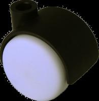 Doppelrolle Ø 040 mm mit harter Lauffläche, Bohrung 8mm, schwarz-weiss