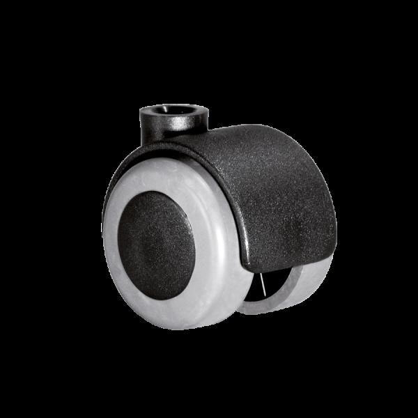 Doppelrollen Ø 40 mm - weiche Lauffläche | Doppelrolle Ø 040 mm mit weicher Lauffläche