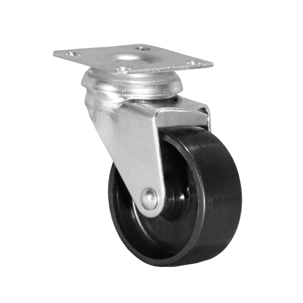 Apparaterollen / Geräterollen | Ø 075 mm Apparaterolle mit harter Lauffläche, Anschraubplatte 60x60 mm