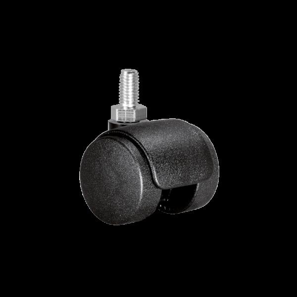 Doppelrollen Ø 35 mm - harte Lauffläche | Doppelrolle Ø 035 mm mit harter Lauffläche, Gewindestift M8x15 mm
