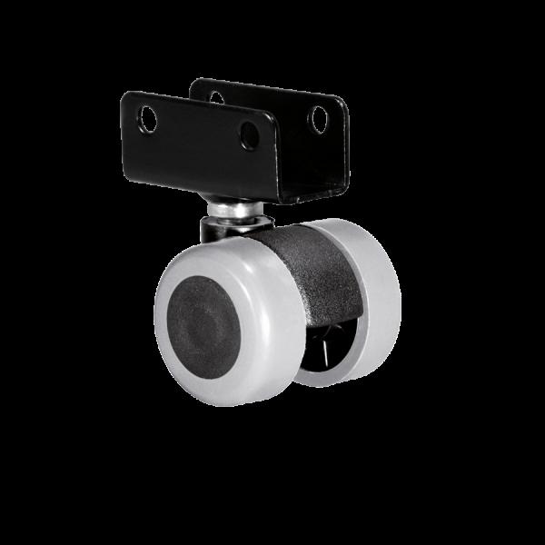 Doppelrollen Ø 35 mm - weiche Lauffläche | Doppelrolle Ø 035 mm mit weicher Lauffläche, Plattenschuh 19 mm