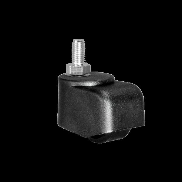 Walzenrolle Ø 025 mm mit harter Lauffläche, Gewindestift M10x15 mm
