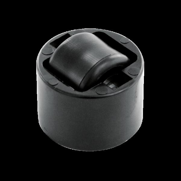 Einbauprodukte | Stollenrolle mit harter Lauffläche, Rad Ø 25 mm