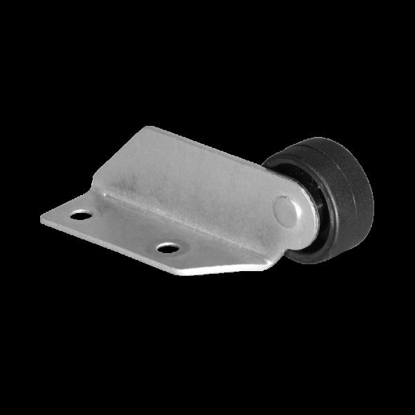 Winkel 22x50 mm verzinkt mit Rolle Ø 030 mm, harte Lauffläche