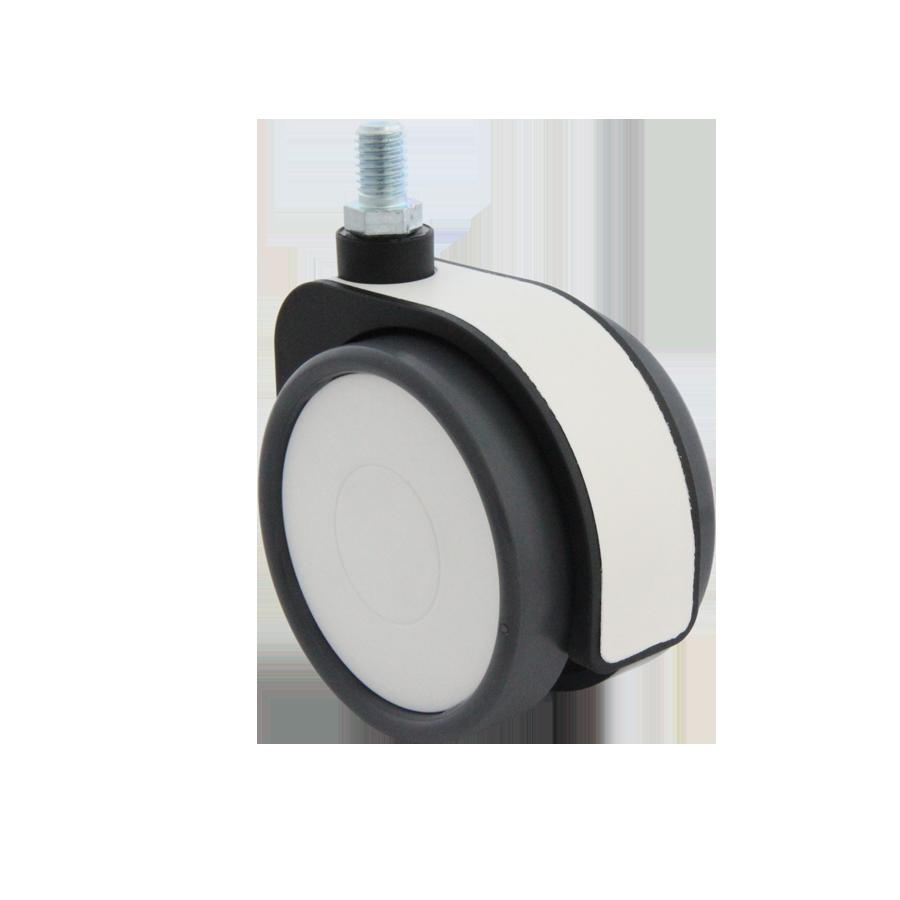Design-Doppelrollen Ø 75 mm - weiche Lauffläche
