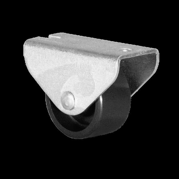 Kastenbockrollen | Ø 025 mm, Kastenbockrolle mit harter Lauffläche