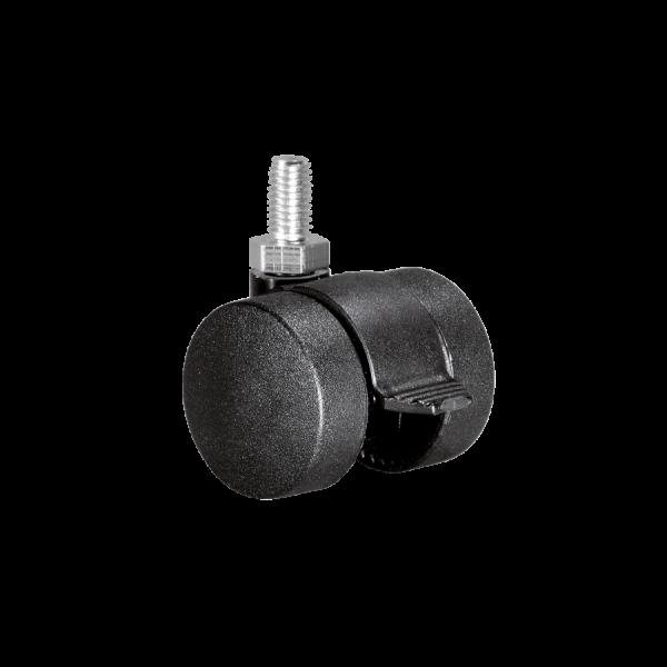 Doppelrollen Ø 35 mm - harte Lauffläche | Doppelrolle Ø 035 mm mit harter Lauffläche und Feststeller, Gewindestift M8x15 mm