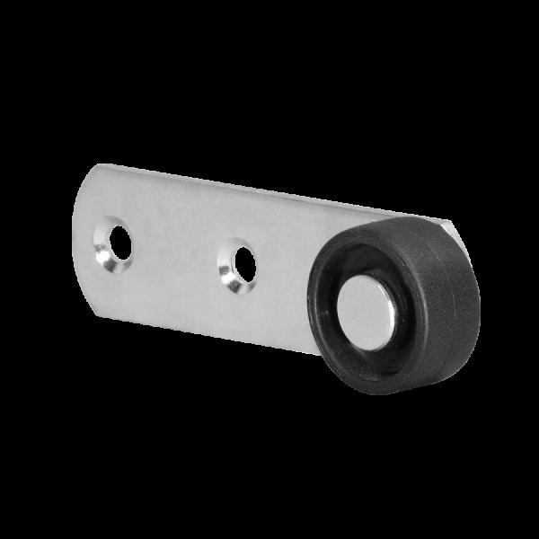 Sonderkonstruktionen mit Rolle | Hebel 100x28 mm verzinkt mit Rolle Ø 030 mm, harte Lauffläche