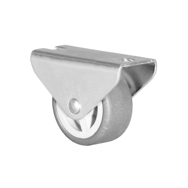 Kastenbockrollen | Ø 030 mm, Kastenbockrolle mit weicher Lauffläche