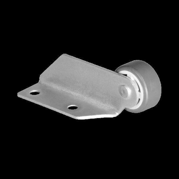 Winkel 22x50 mm verzinkt mit Rolle Ø 030 mm, weiche Lauffläche